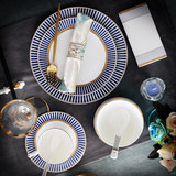 Western dishes bone china tableware suit swing sets two pieces of ceramic dinnerware eat two steaks pan tableware coffee cup