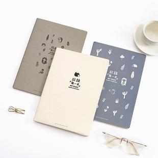 韩国文具初品清新创意B5大号厚笔记本复古日记本学生记事本子批发