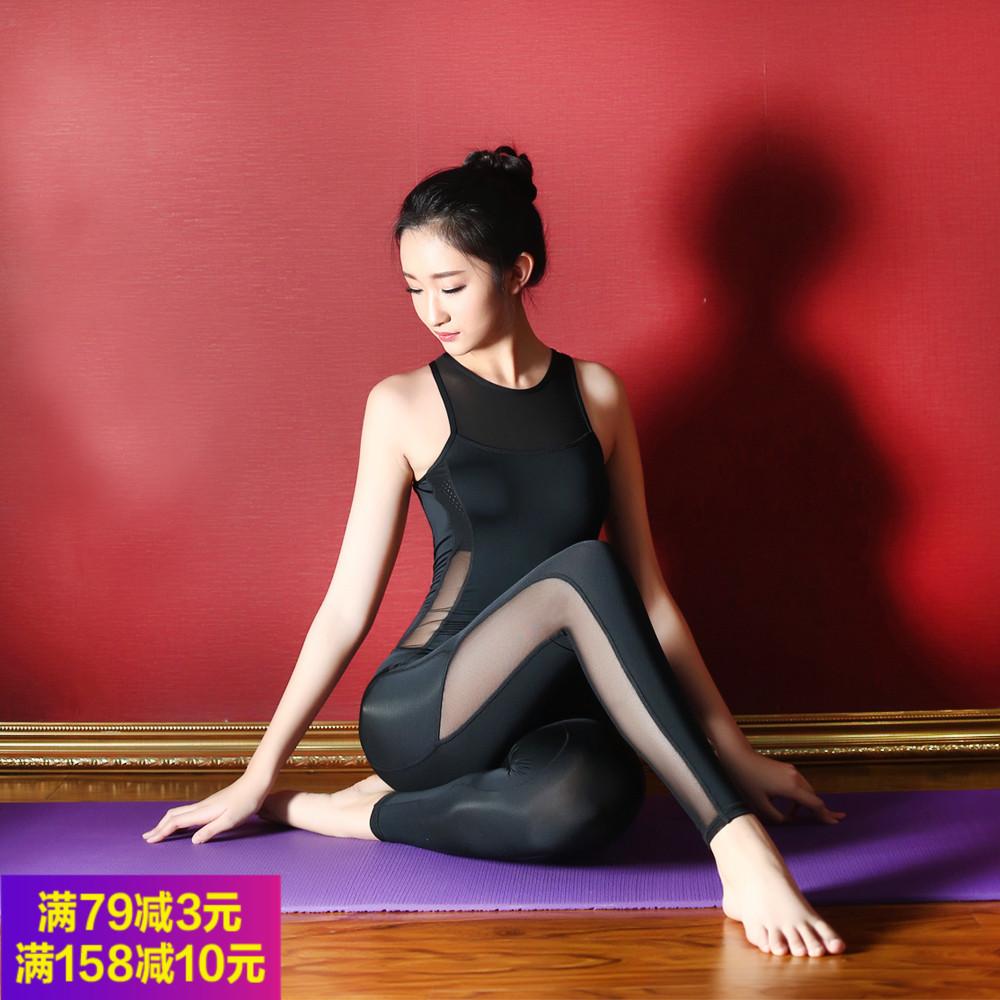 初学者瑜伽连体服空中瑜伽服性感露背一体式瑜伽服连体长裤练功服