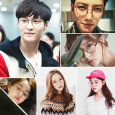 6bf7f10352 Round frame plain glasses frame retro Korean version of the tide men and women  flat mirror
