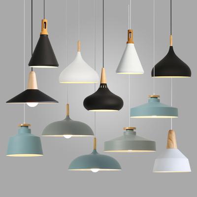 北欧灯具现代简约餐厅吊灯创意个性吧台书房客厅办公室工业风吊灯评测