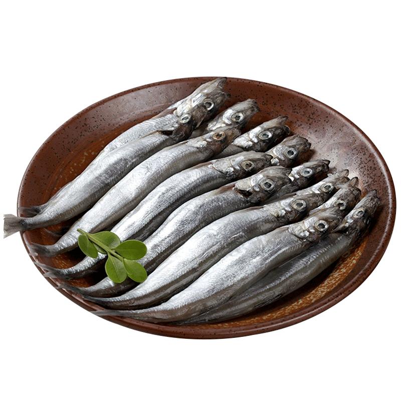 御鲜轩 加拿大新鲜多春鱼 500g 条条满籽 烧烤海鲜 冷冻生鲜食材