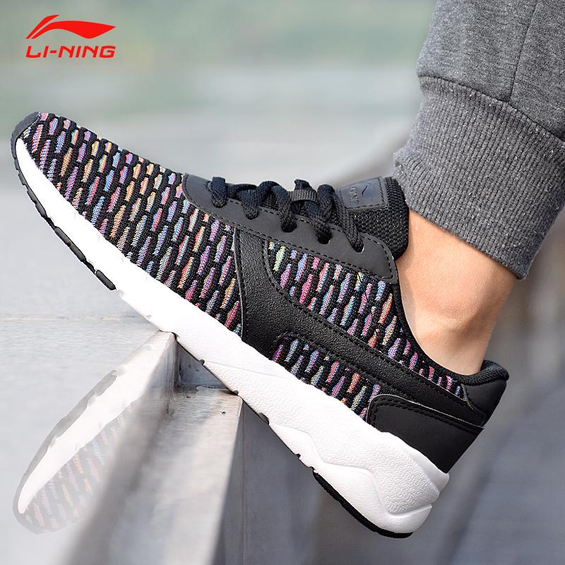 李宁休闲鞋女鞋2018秋季新款正品经典鞋运动鞋一体织运动鞋板鞋
