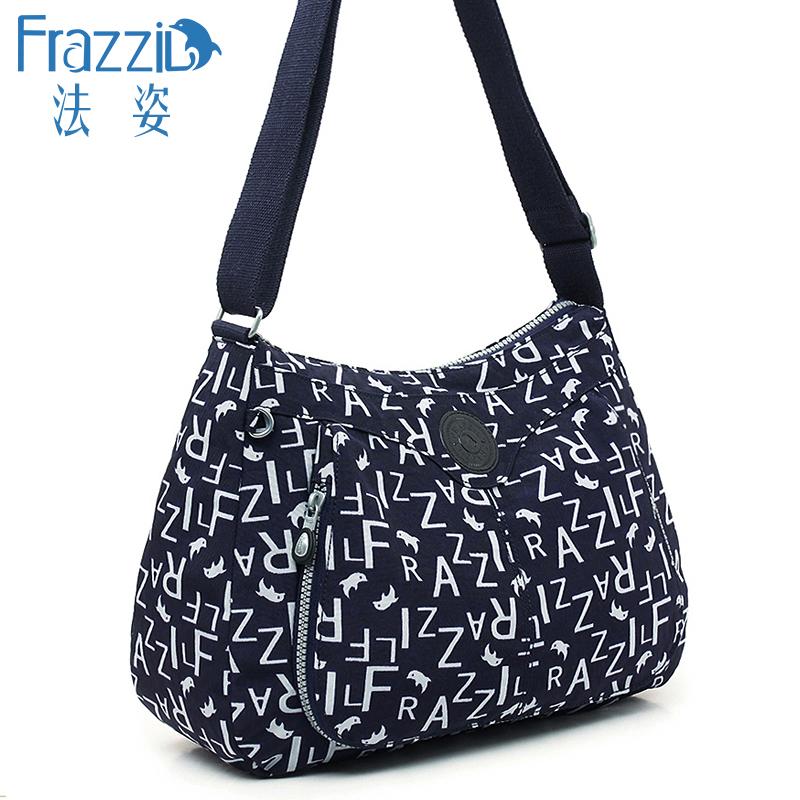 Frazzil/法姿女包斜挎包2019新款轻便简约帆布包中年妈妈单肩布包