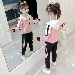 网红童装 女童套装 秋装 儿童中大童韩版 2019新款 运动休闲洋气两件套