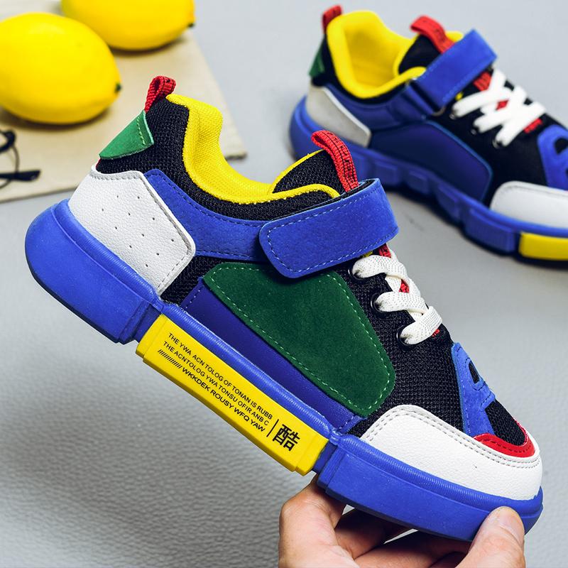 悟道儿童鞋2018新款男童鞋子透气运动鞋秋季女童秋鞋休闲鞋韩版潮