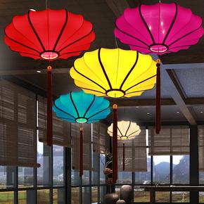中式灯仿古吊灯餐厅灯过道灯具装饰禅意创意艺术古典红色红灯笼灯
