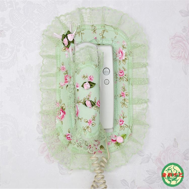 上新门铃套可视电话装饰贴蕾丝室外对讲机防尘罩子布艺室内挂机门