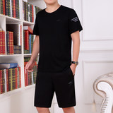 Men's Summer Sports Suit 2019 New Summer Short Sleeve Sportswear Men's Leisure Sportswear Large Short Pants Running