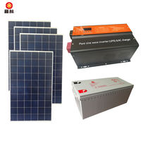 3000W home solar power system photovoltaic panel full set with air conditioning 220V refrigerator water pump 3KW-4B
