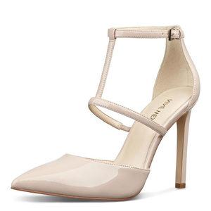 美国直邮Nine West 玖熙N08318T女鞋尖头浅口鞋气质细跟高跟鞋
