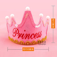 Adult children's age luminous crown birthday hat party decoration decoration birthday hat crown headdress