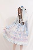 Alice girl原创新款 雪夜芭蕾lolita华丽优雅洛丽塔op长袖连衣裙