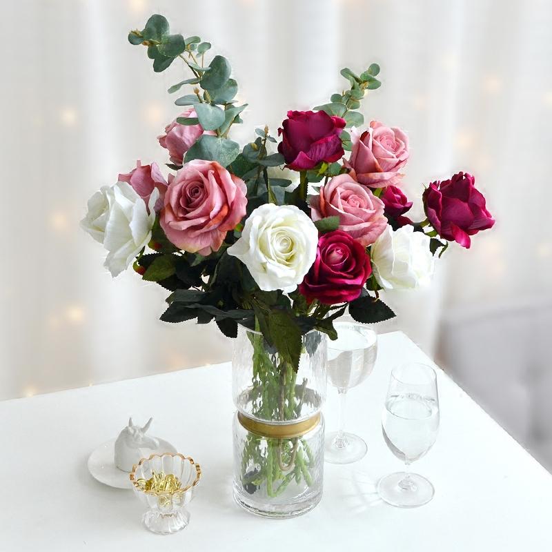 仿真红玫瑰花单支