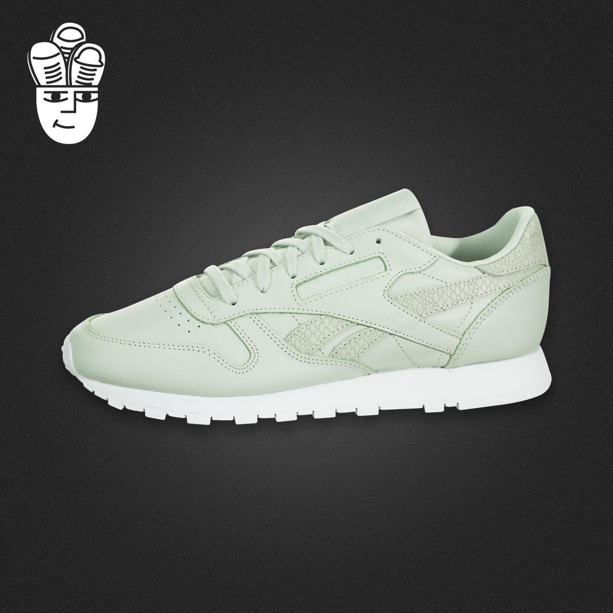 Reebok Classic Leather Pastel 锐步女鞋 复古跑步鞋 运动休闲鞋