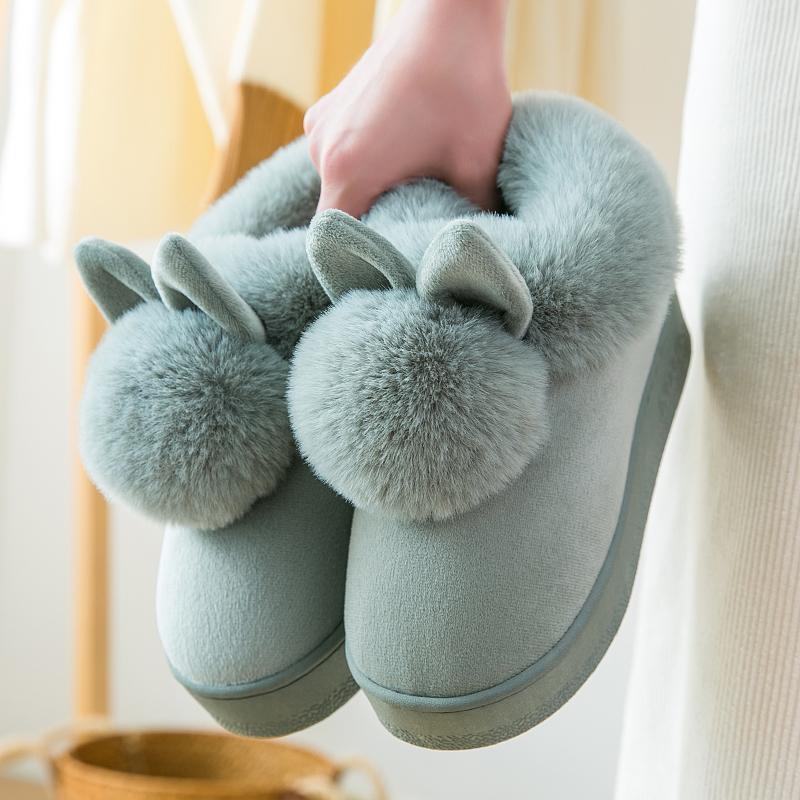 防滑高跟棉拖鞋