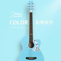 美国johnson民谣吉他初学者学生女男初学38寸40粉色入门新手乐器