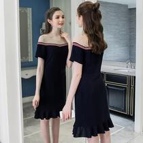 奢姿大码女装新款夏装2018胖妹妹显瘦仙女裙胖mm减龄遮肚子连衣裙