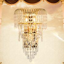 欧式壁灯水晶壁灯客厅背景墙壁灯过道壁灯卧室床头壁灯简约壁灯具