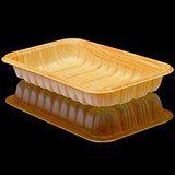 2013 wood grain tray supermarket meat food packaging box disposable salmon fresh wood grain tray
