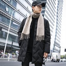 轻薄青少年外套潮高中学生 韩版 冬季假两件羽绒服男中长款 2018新款