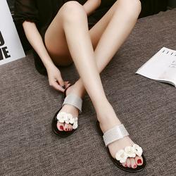 甜美花朵平底凉鞋