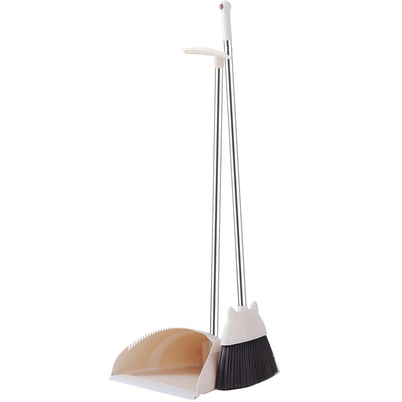 扫把簸箕组合家用扫地软毛笤帚清洁套装少把不粘头发塑料扫帚撮箕