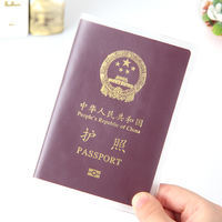 South Korea Tourism Transparent Bag Waterproof Frosted Passport This package Cover Travel Multi-function Clip Couple Document Cover Leather