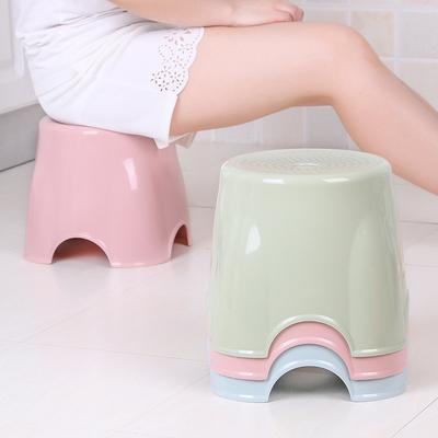 家用塑料圆凳子高凳矮凳小椅子时尚创意加厚成人坐凳板凳儿童餐凳