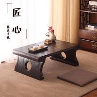 简易日式简约实木桐木榻榻米桌电脑桌飘窗茶几国学桌地台茶几长桌
