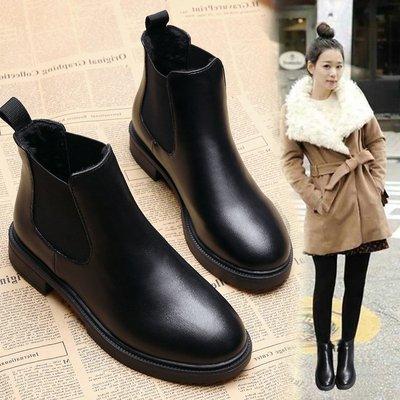 短靴女2018新款马丁靴秋冬季平底切尔西靴英伦风学生韩版百搭女鞋