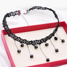 日韩气质脖子饰品手工蕾丝原宿繁复短款 锁骨链女时髦颈链项圈颈带