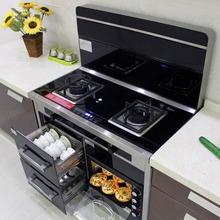 英国YUKIDA集成灶一体灶家用下排侧吸自动清洗蒸烤箱油烟机环保灶