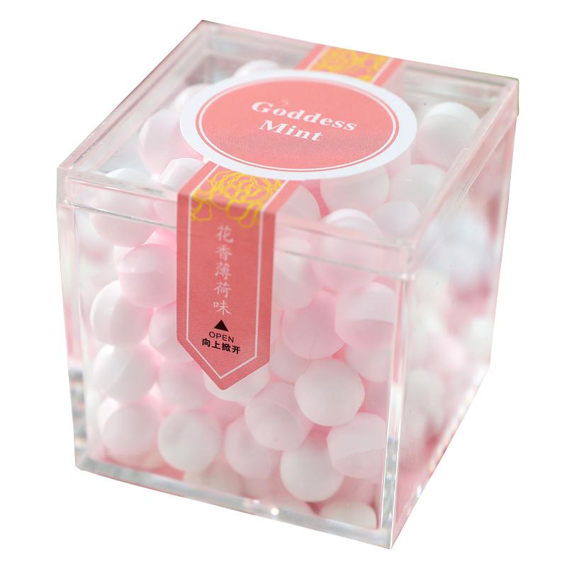 香体糖吐息花香薄荷糖果女约会持久清新口气抖音网红接吻糖口香糖