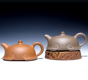 宜兴正宗祥云如意紫砂壶茶壶茶具200毫升功夫茶泡茶礼品特价
