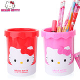 HelloKitty primary school students creative simple stationery pen holder large capacity girl cute cartoon storage pencil tube