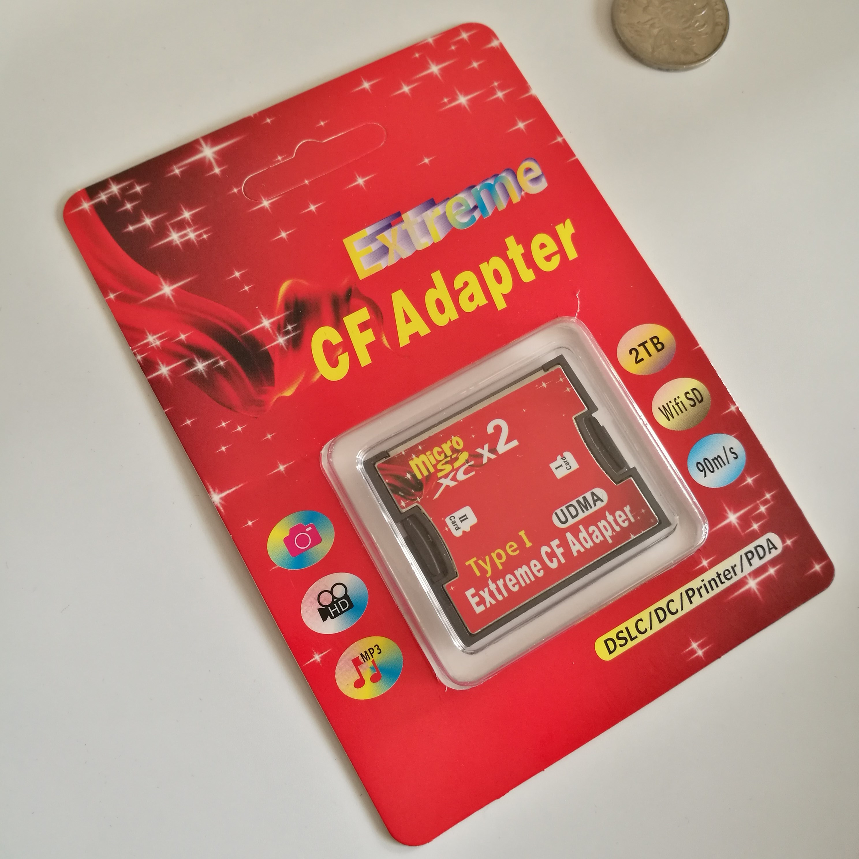 原装 micro sd转CF 卡套 双TF转CF卡套 支持SDXC  128GB CF卡
