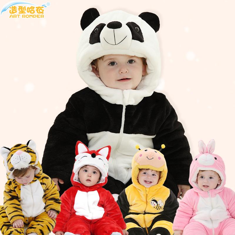 儿童连体衣冬季厚