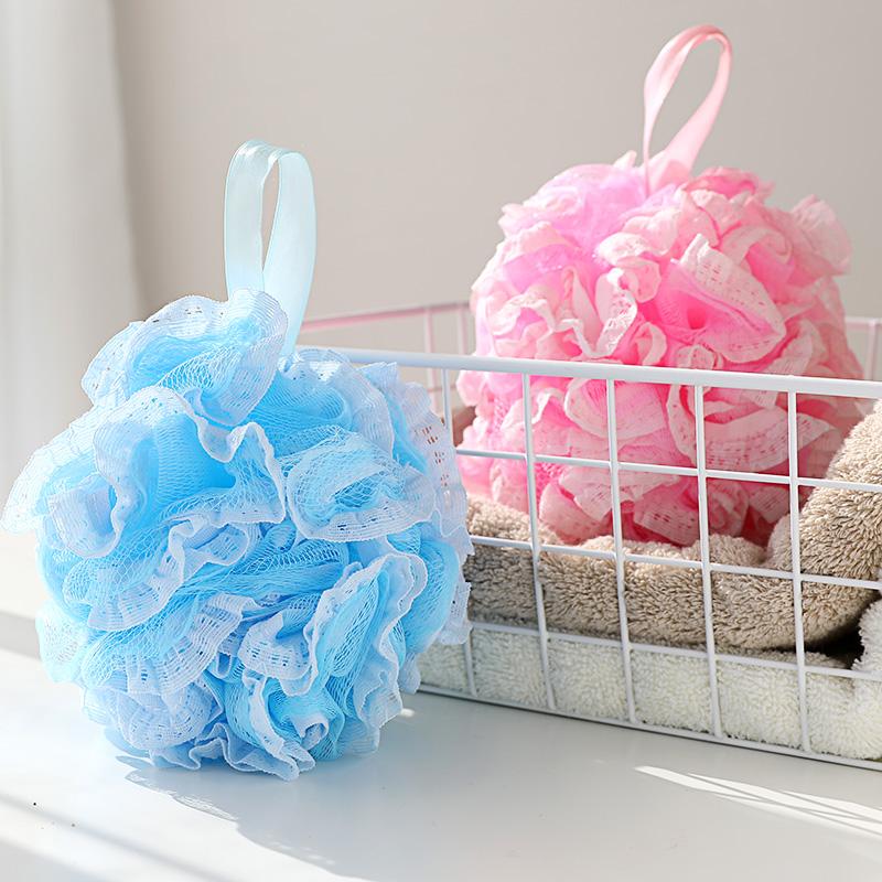 沐浴球洗澡泡澡球浴花可爱大号搓澡搓背起泡洗浴用品沐浴花洗澡巾