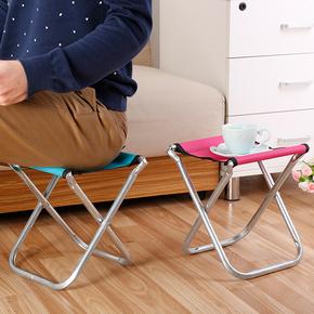 家用布艺金属折叠凳子马扎户外加厚钓鱼椅矮凳折叠椅便携式小板凳
