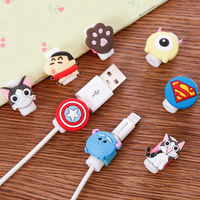Cartoon cute data line protection cover Apple 6S line set mobile phone charging line anti-break broken headset cover
