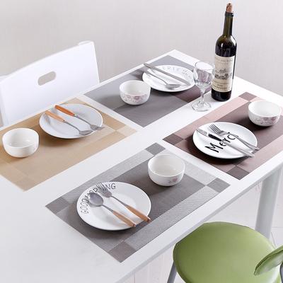 欧式长方形西餐垫防烫隔热垫学生 pvc餐垫桌垫盘垫防水防滑碗垫子