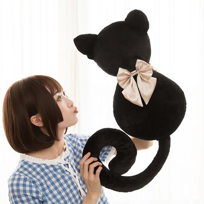欢乐颂曲筱绡同款背影猫大号抱枕毛绒玩具猫咪公仔毕业季女友礼物