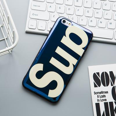 苹果6splus手机壳iPhone6保护套潮6/6s/plus蓝光硅胶防摔全包边软壳i6男女款6代P简约新款六个性红色外壳支架