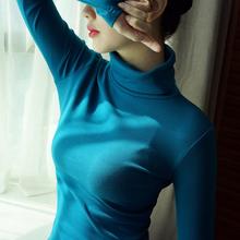 百搭T恤 女士衣服秋冬季显瘦内搭长袖 上衣2018新款 纯棉高领打底衫