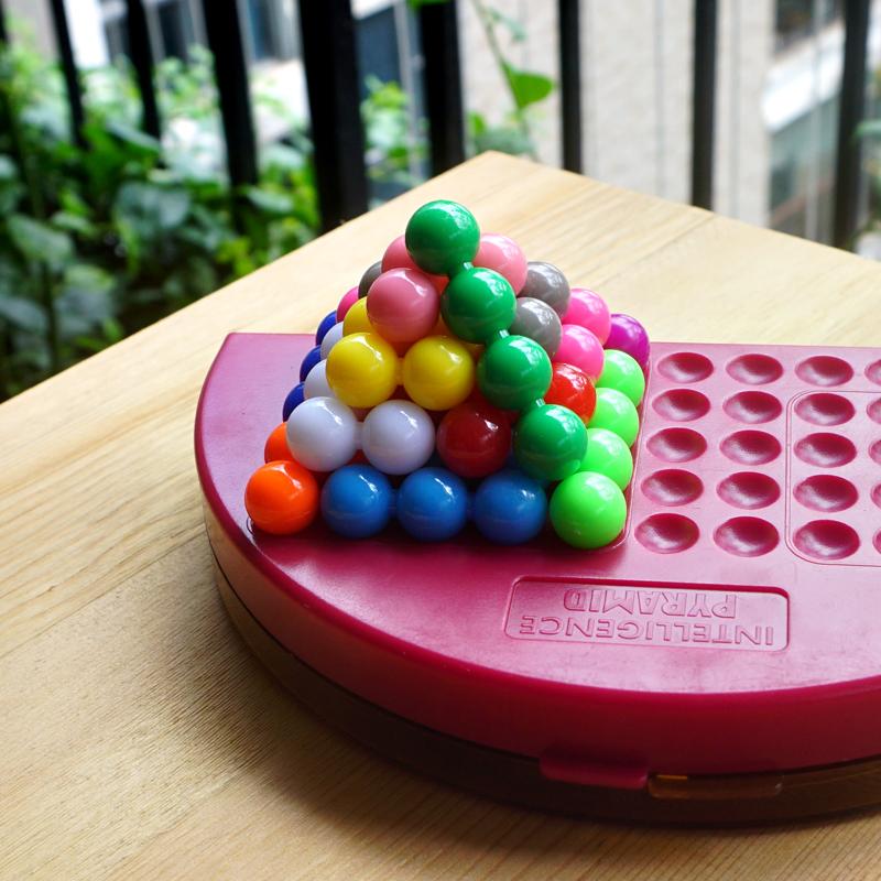 智慧金字塔智力魔珠智慧珠思维训练亲子玩具桌面拼盘游戏638题