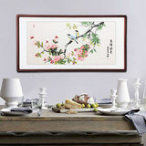 Bird language floral hand-painted real flower and bird painting Chinese painting living room dining room corridor staircase calligraphy and painting frame decoration painting