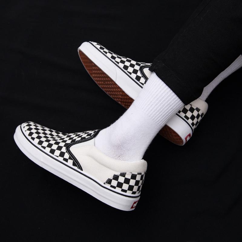 格子低帮帆布鞋