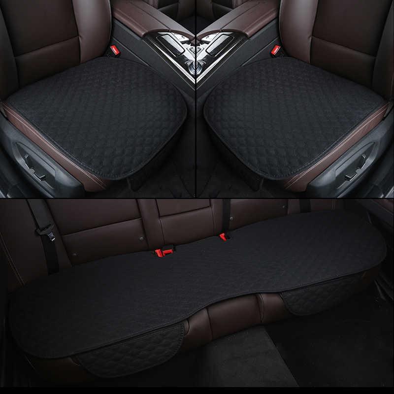 亚麻冬季汽车坐垫无靠背奥迪奔驰宝马专用单片主驾驶后排四季座垫
