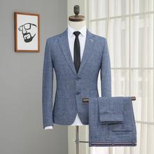 新郎结婚礼服 品牌剪标 修身 休闲薄款 西装 春款 男士 西服套装 韩版